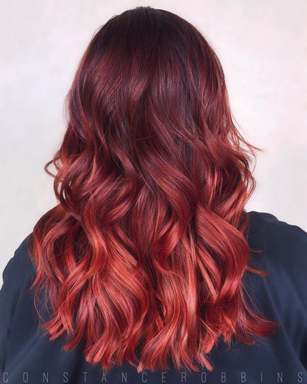 copper-to-red-melting-hairstyle